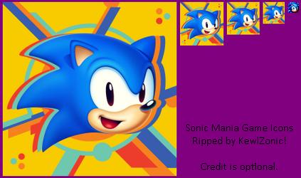 Sonic Mania Game Icons/Logos