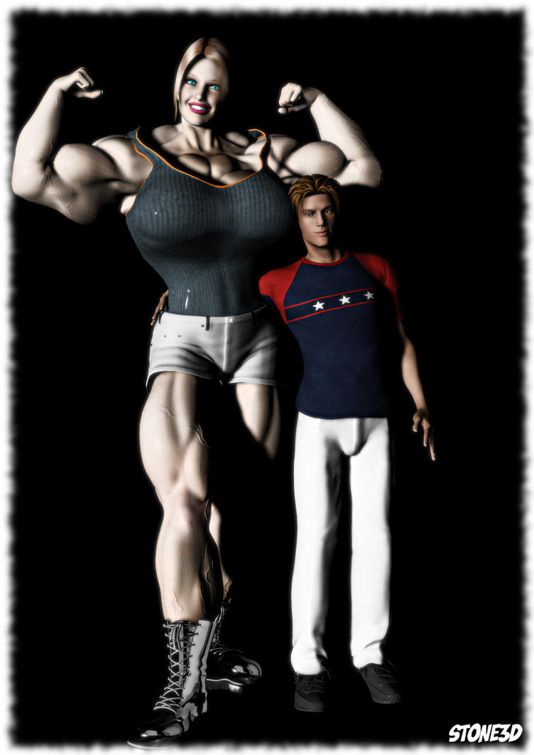 Amazon muscle women in 3d sexy pic