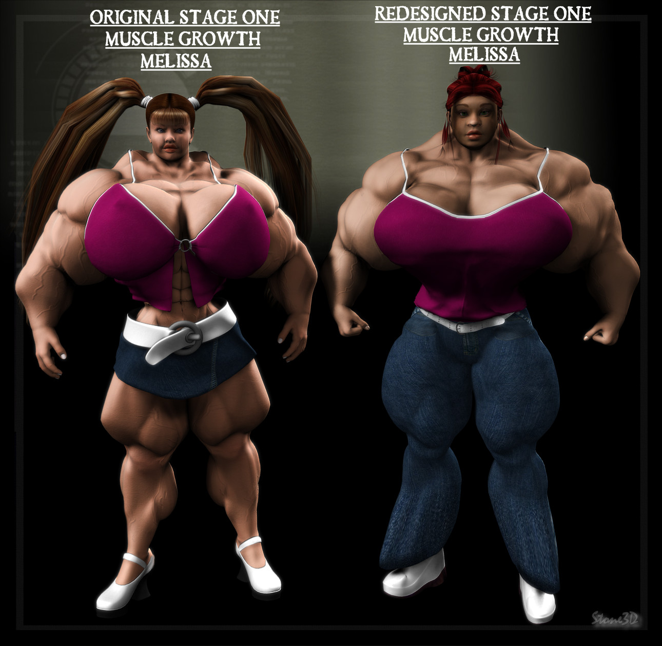 3d animated muscle females adult pictures