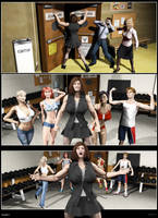 Silent Muscle Giantess Comic 08 by Stone3D