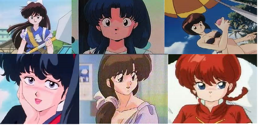 Ranma 1 2 Anime Characters : Tribute to ranma female characters by fatehound on
