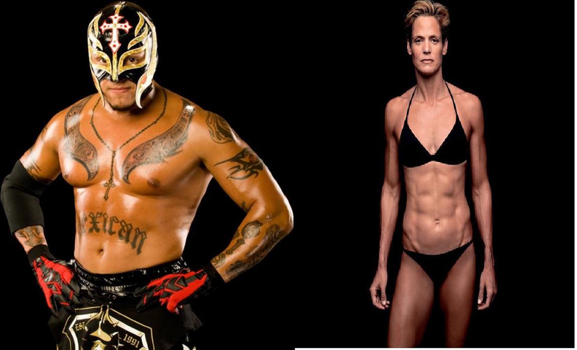 Rey Mysterio vs Dara Torres by fatehound45