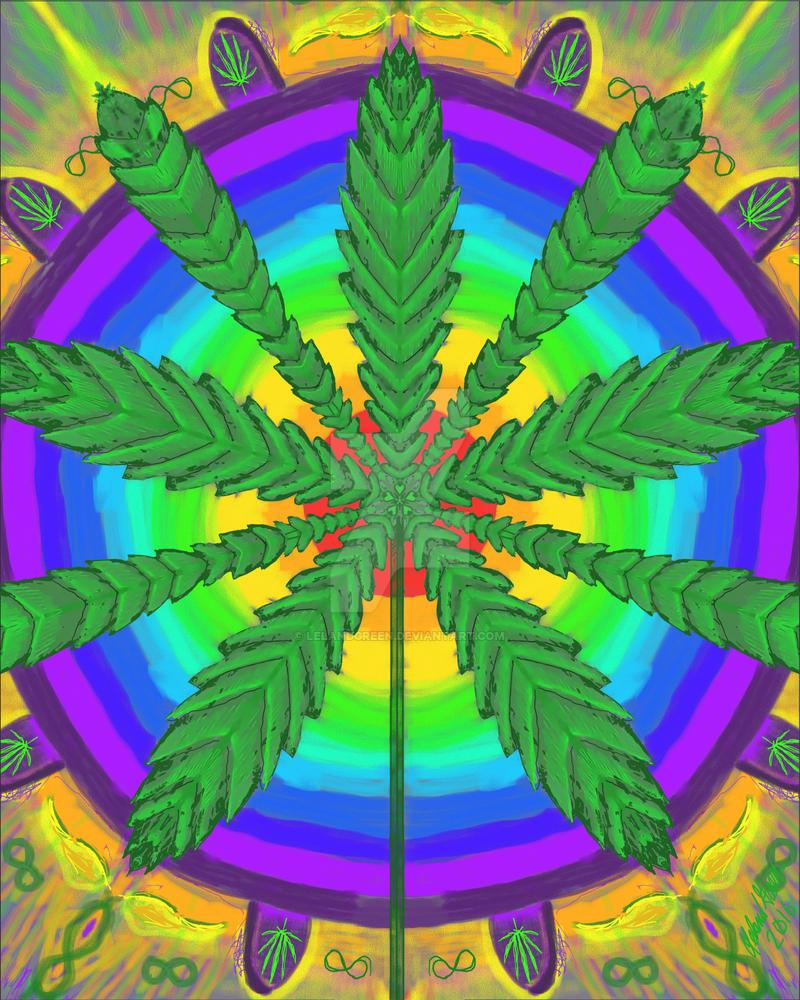 Cannabis Mandala 3 by LelandGreen