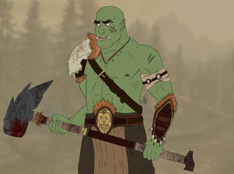 An Orc that is definately not from Skyrim