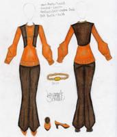 Orange Sweater Outfit Design by Zaratulah