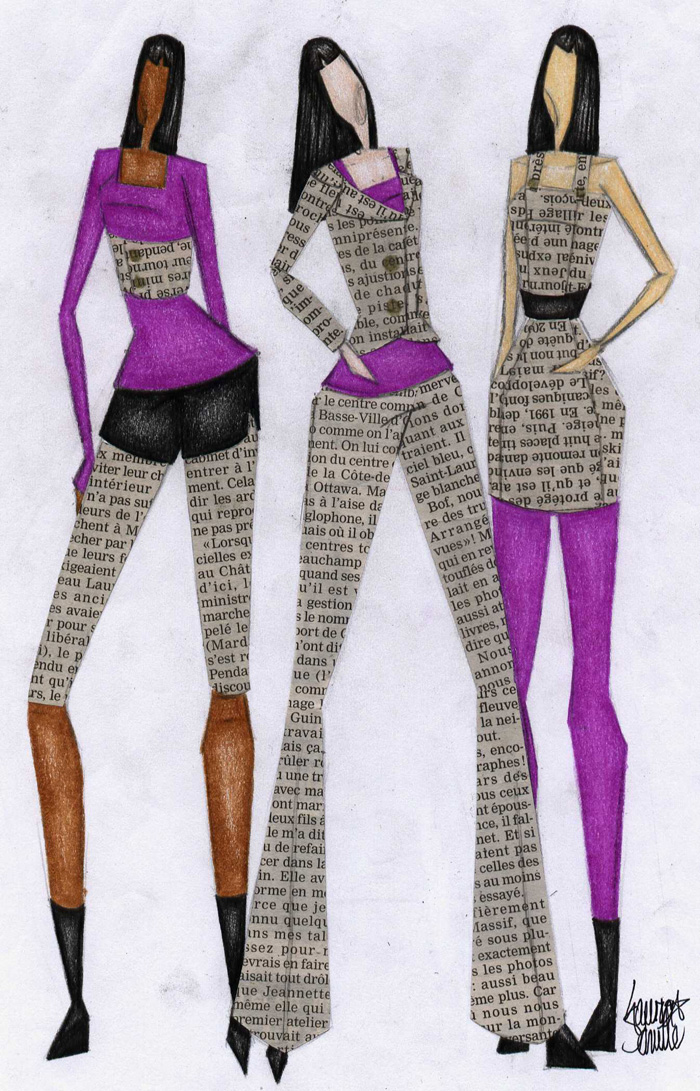NEWSPAPER CLOTHES by Zaratulah