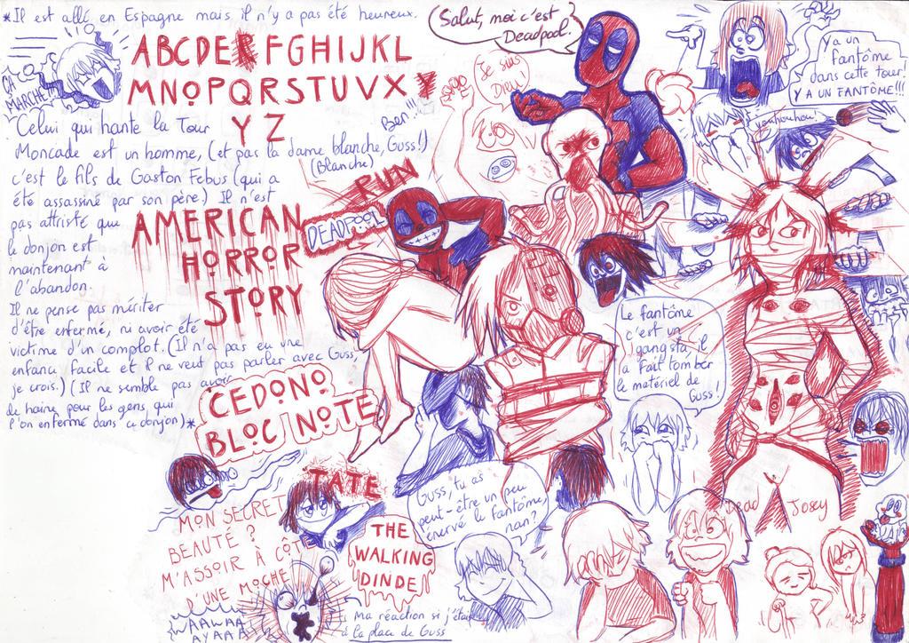 AHS, Deadpool et Creepypasta :3 by Cedono
