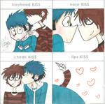 Mordecai and Rigby Kiss Meme