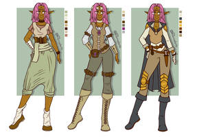 Euphyllia's outfits, first season
