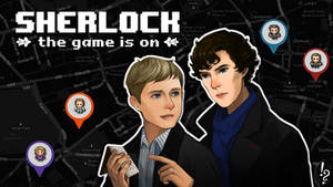 SHERLOCK: THE GAME IS ON (DESKTOP WALLPAPER) by SherlockTheGame
