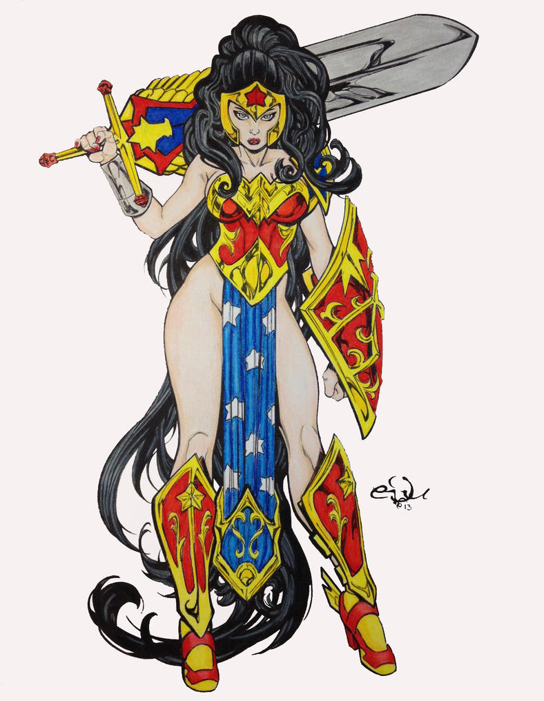 Ame Comic Girls Wonder Woman by Edufrancicso by SSGJoey