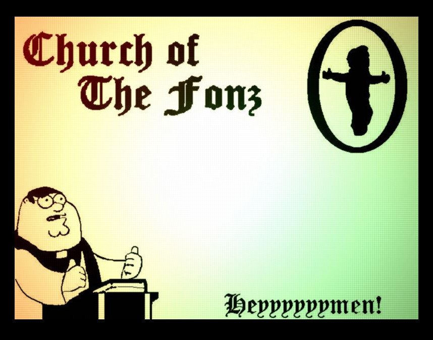 The Church of The Fonz by MitchMerriweather18