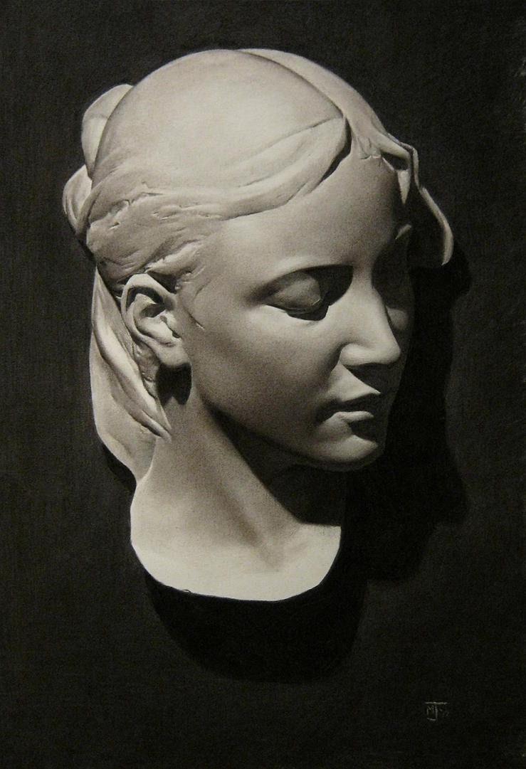 Mother mask, cast drawing by Miles-Johnston