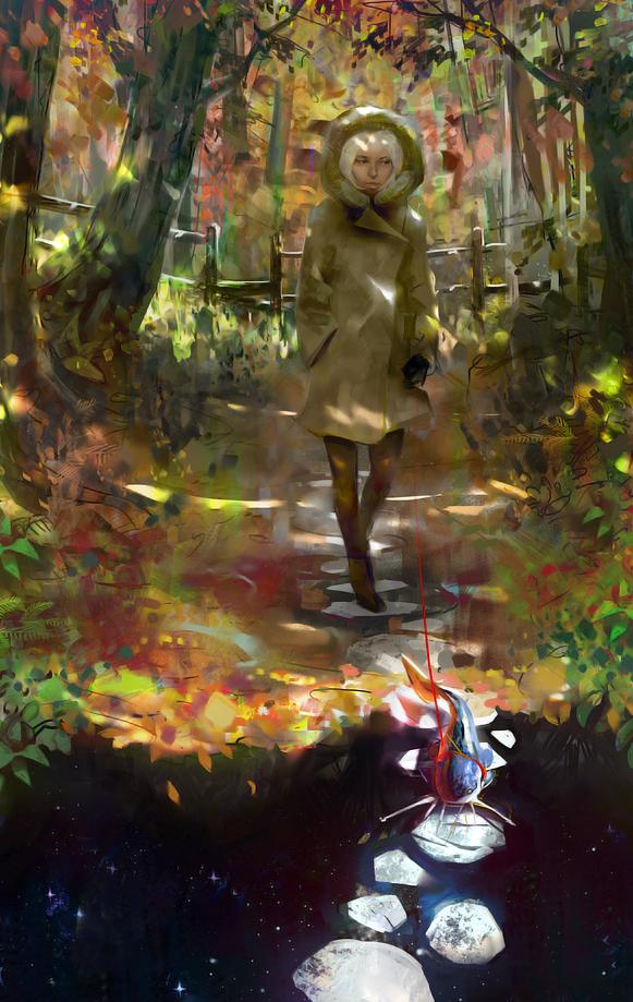 Autumn walk by Miles-Johnston