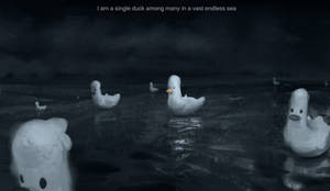 Existential duck no.3 by Miles-Johnston
