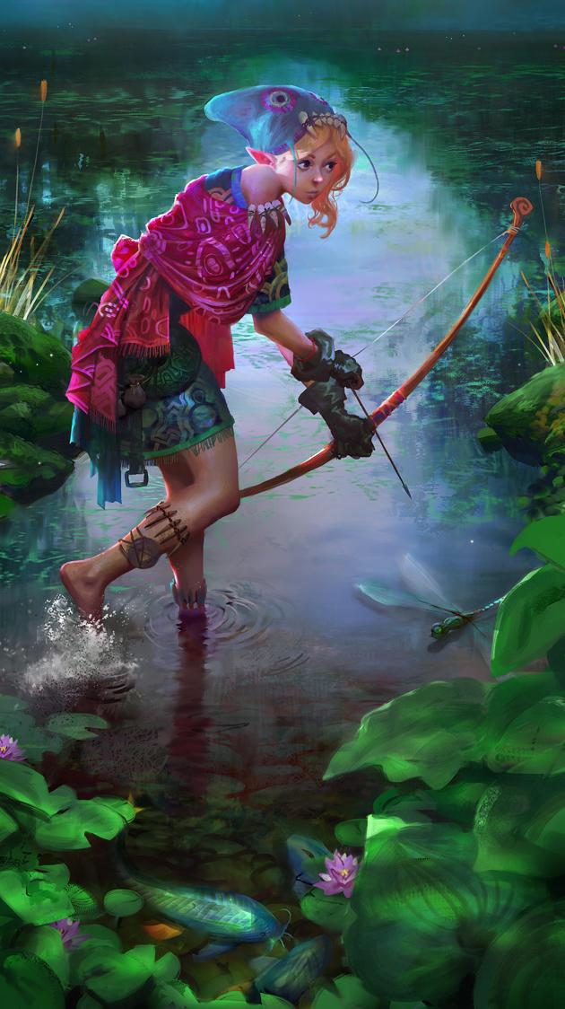Bowfishing by Miles-Johnston