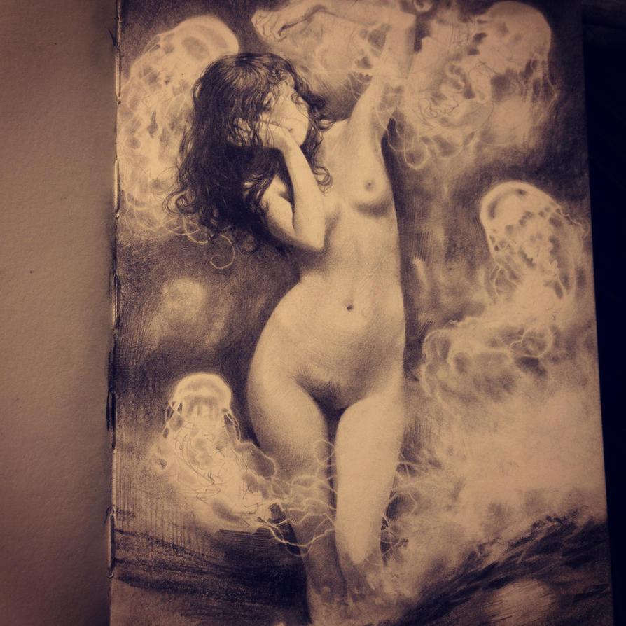 More sketchbook work by Miles-Johnston