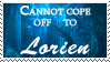 Cannot cope off to Lorien by lorienculurien