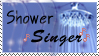 Shower singer -blue- stamp by lorienculurien
