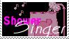 Shower singer -pink- stamp by lorienculurien