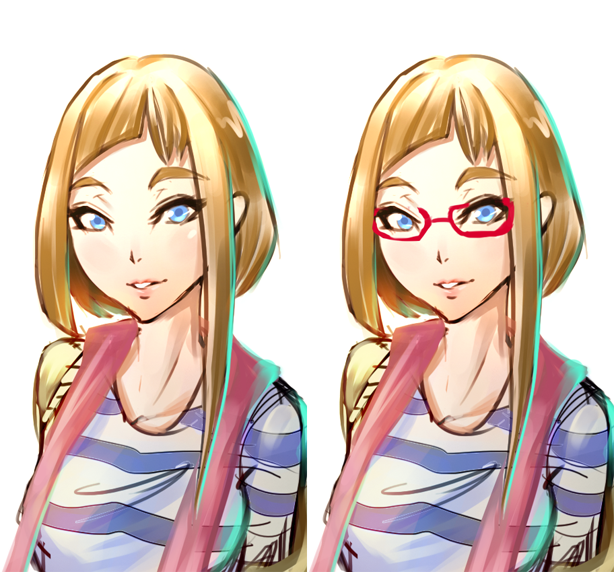 Glasses or no glasses? by HyperCHANG