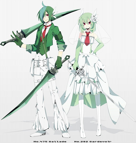 gallade and gardevoir human -#main