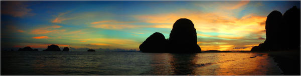 phra nang beach sunset by floesse