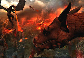 Attack of the dragons by Spino2006