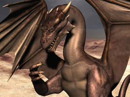 Draxor the Desert dragon by Spino2006