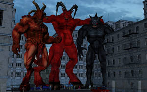 Baphomet, Diablo and Moloch by Spino2006