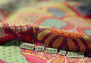 Leave me here to dream