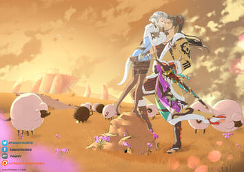 Akiiyo and Hien by FanasY