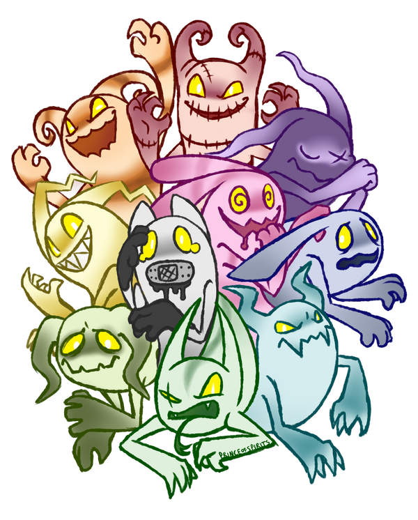 Ghost Bound Drawlloween 1 - Ghost(s) by PrinceofSpirits