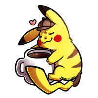 Detective Pikachu x Coffee