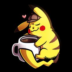 Detective Pikachu x Coffee by PrinceofSpirits