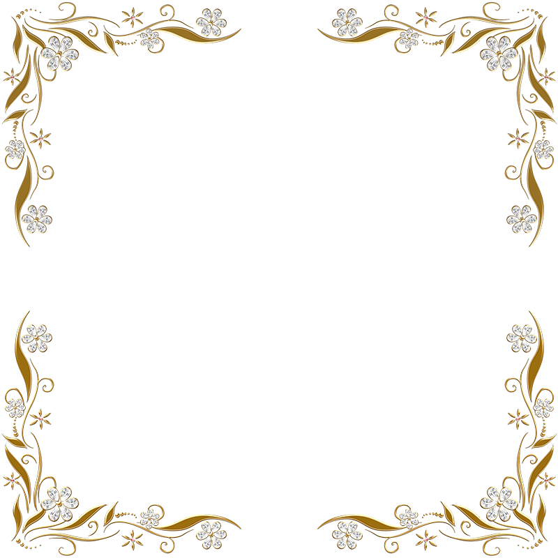 golden floral corners frame 2 by paw prints designs on photo or book corners picture frame stock photo image