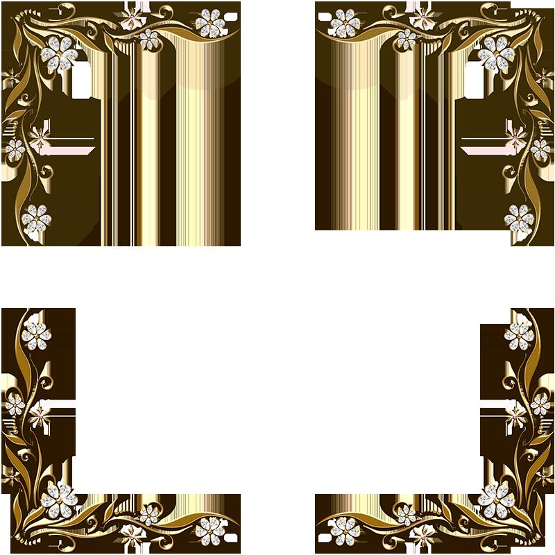 golden floral corners frame 2 by paw prints designs on. Black Bedroom Furniture Sets. Home Design Ideas