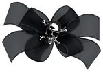 Black Bow with Skull