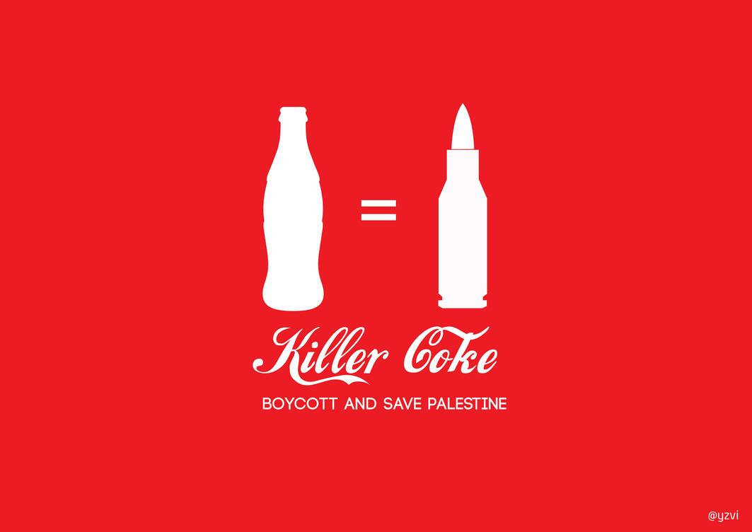 Killer Coke for Palestine.. #PrayGaza by yazhviespaghettie