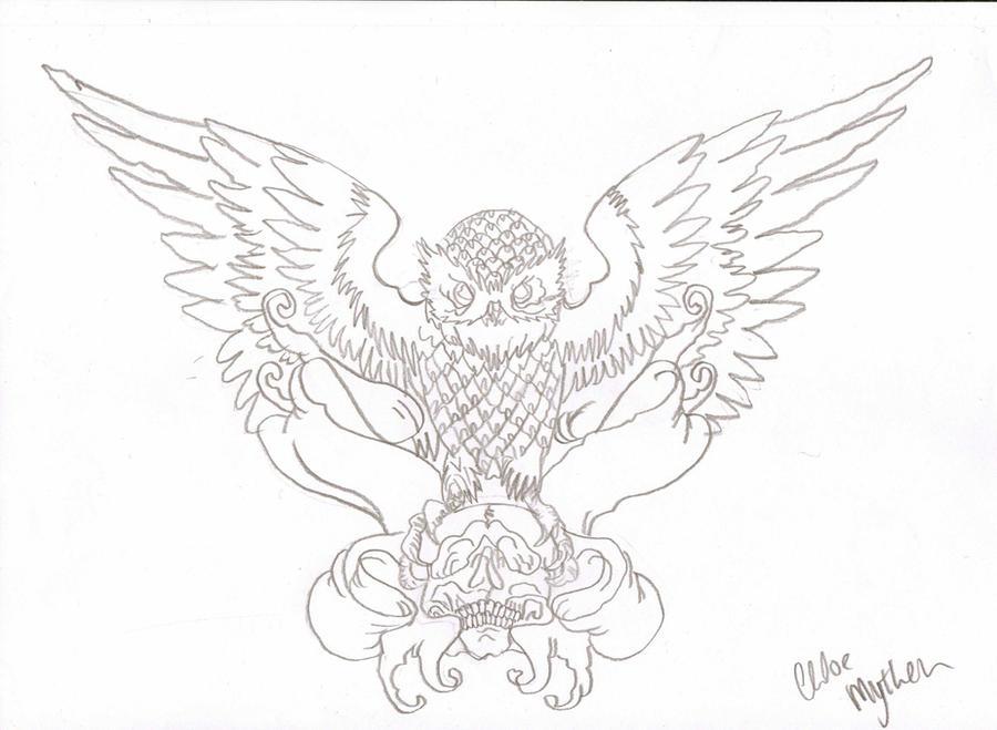Owl Tattoo Outline by cxloe on DeviantArt