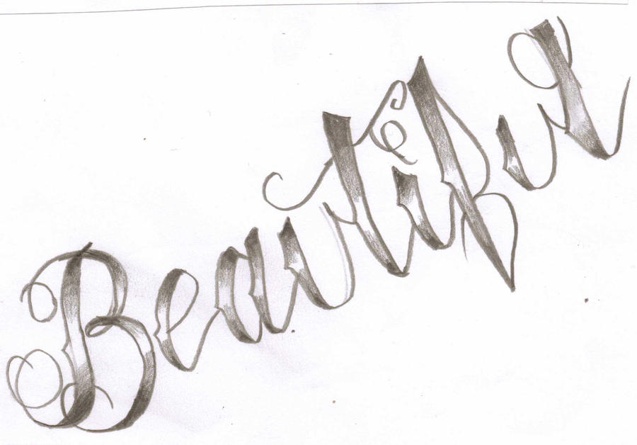 Beautiful Tattoo Lettering By Cxloe