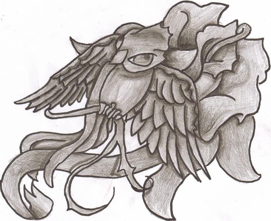 bird and rose tattoo flash by cxloe on deviantart. Black Bedroom Furniture Sets. Home Design Ideas