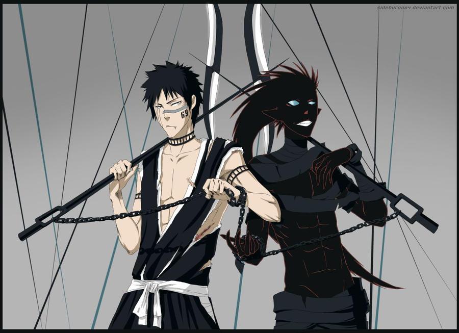 Bleach: Shuuhei and Kazeshini by Sideburn004