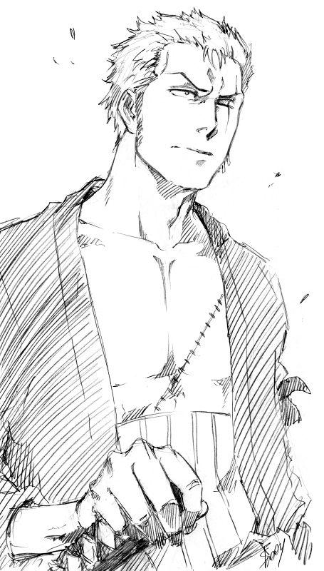 OP: Zoro sketch by Sideburn004