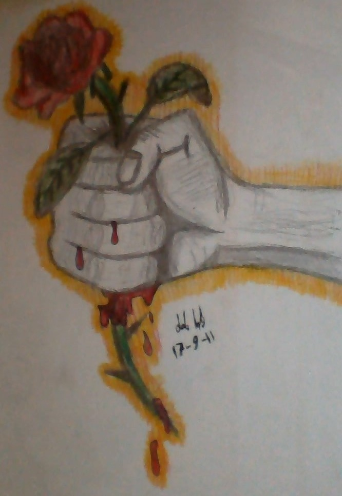 Hand holding a rose by happymanx333 on deviantart for Hand holding a rose drawing