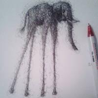 The lost elephant by happymanx333