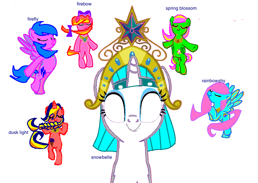Six Elements Of Art : My mane elements of harmony by wigglepony on deviantart