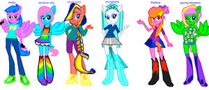 my mane 6 eq girls