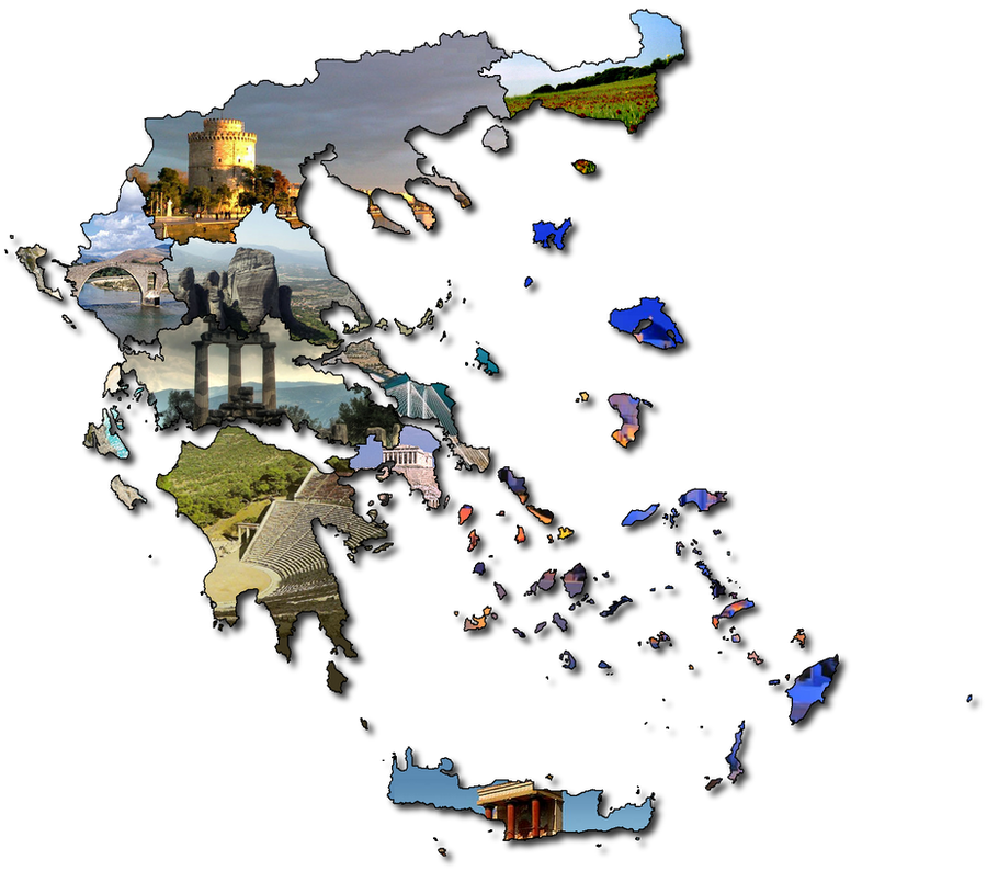 Collage of Greece by CaptainVoda