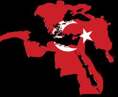 Ottoman Empire Flag-Map 1683 by CaptainVoda